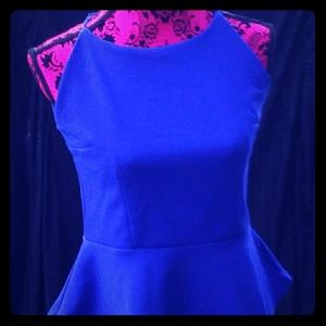Small blue peplum top